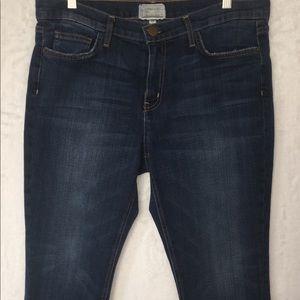 Current/Elliott straight leg cropped jeans